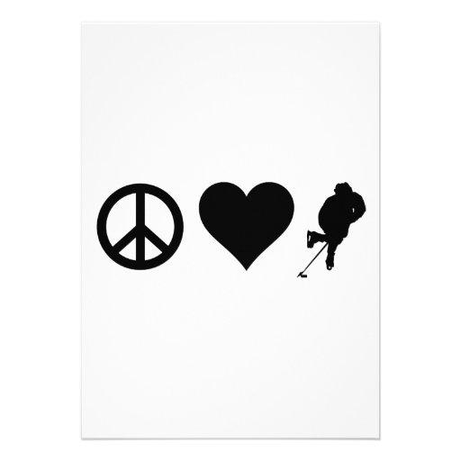 Peace Love Hockey Custom Invite