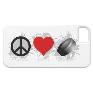 Peace Love Hockey Emblem iPhone 5 Case