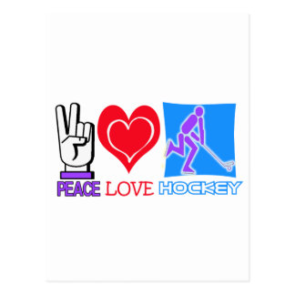 PEACE LOVE HOCKEY GIFTS POSTCARDS