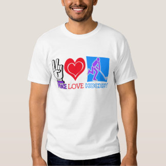PEACE LOVE HOCKEY GIFTS T-SHIRTS