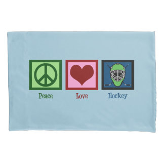 Peace Love Hockey (Goalie Mask) Cute Pillowcase