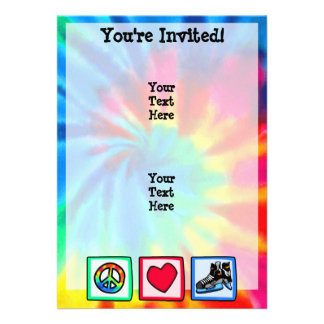 Peace, Love, Hockey Personalized Announcement