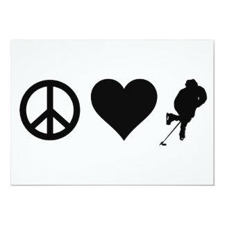 Peace Love Hockey Custom Announcement