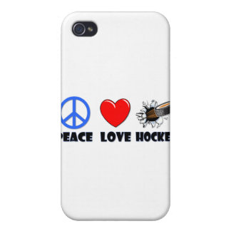 Peace Love Hockey Cover For iPhone 4