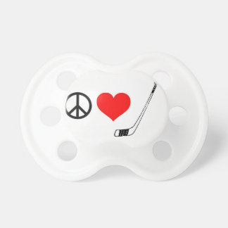 Peace Love Hockey Pacifier