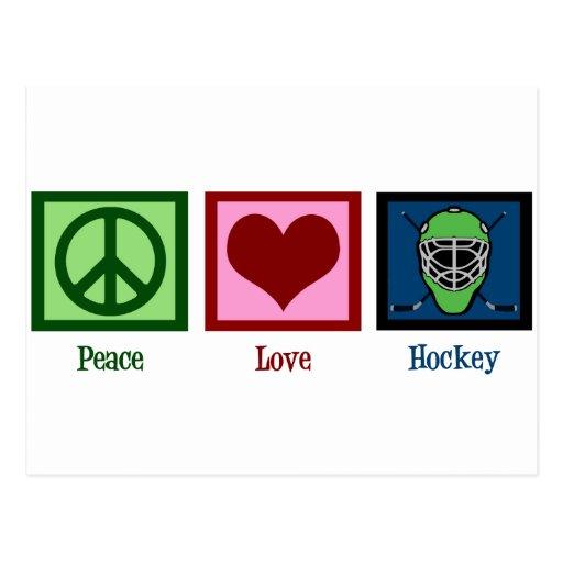 Peace Love Hockey Post Cards