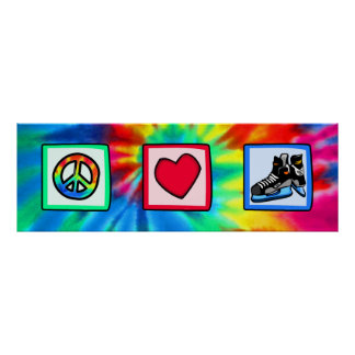Peace, Love, Hockey Poster