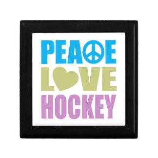 Peace Love Hockey Small Square Gift Box