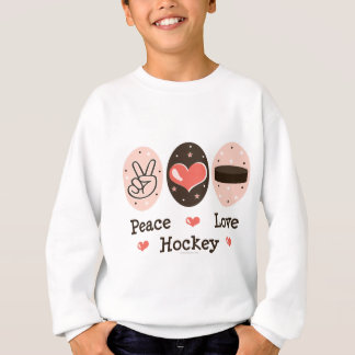 Peace Love Hockey Sweatshirt