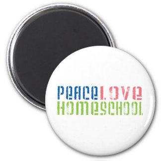 Peace Love Homeschool 6 Cm Round Magnet