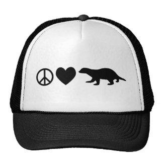 Peace, Love & Honey Badgers Cap