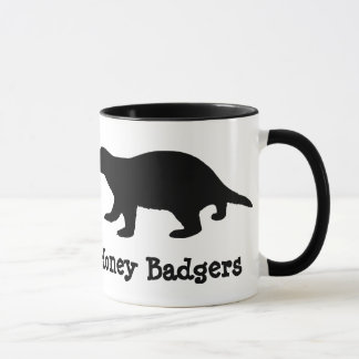 Peace, Love & Honey Badgers Mug