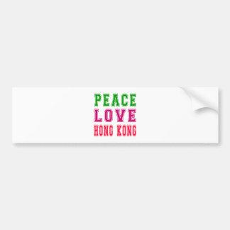 Peace Love Hong Kong Bumper Sticker