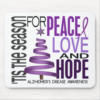 Peace Love Hope Christmas Alzheimer's Disease Mouse Pad