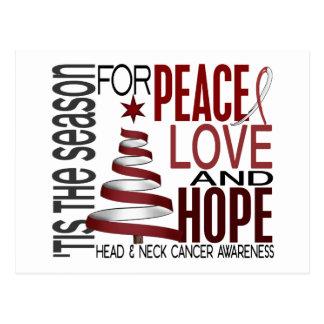 Peace Love Hope Christmas Head And Neck Cancer Postcard
