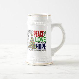 Peace Love Hope Christmas Holiday Autism Coffee Mug