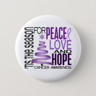 Peace Love Hope Christmas Holiday Cancer 6 Cm Round Badge