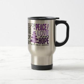 Peace Love Hope Christmas Holiday Crohn's Disease Mugs