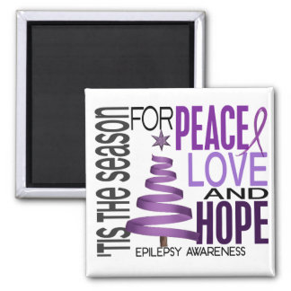 Peace Love Hope Christmas Holiday Epilepsy Magnets
