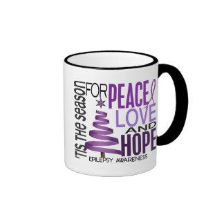 Peace Love Hope Christmas Holiday Epilepsy Mugs