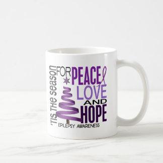 Peace Love Hope Christmas Holiday Epilepsy Coffee Mug