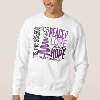 Peace Love Hope Christmas Holiday Epilepsy Pullover Sweatshirt