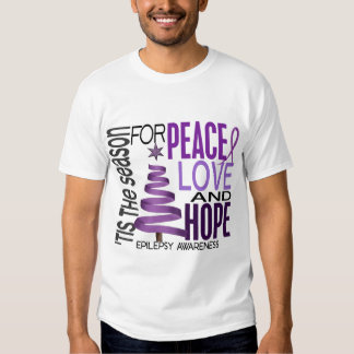 Peace Love Hope Christmas Holiday Epilepsy Shirts