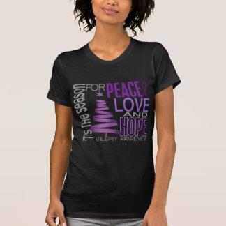Peace Love Hope Christmas Holiday Epilepsy Tees