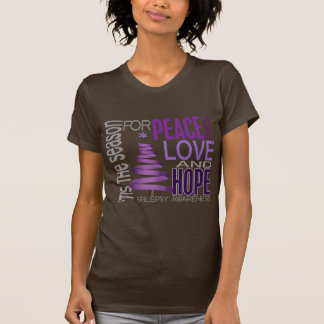 Peace Love Hope Christmas Holiday Epilepsy Tshirts