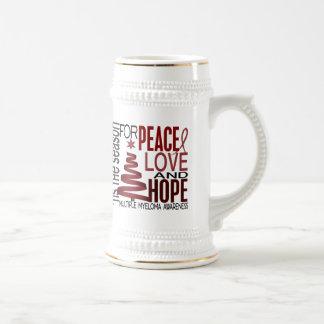 Peace Love Hope Christmas Holiday Multiple Myeloma Mug