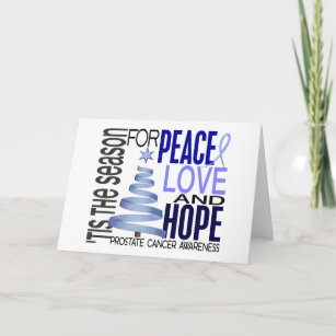 prostate cancer awareness christmas cards zazzle ukpeace love hope christmas holiday prostate cancer