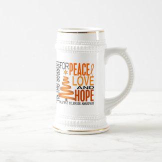 Peace Love Hope Christmas Multiple Sclerosis Mugs