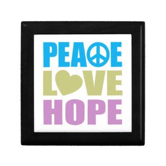 Peace Love Hope Keepsake Boxes