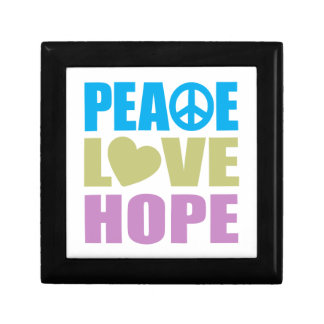 Peace Love Hope Small Square Gift Box