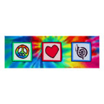 Peace, Love, Horns Posters