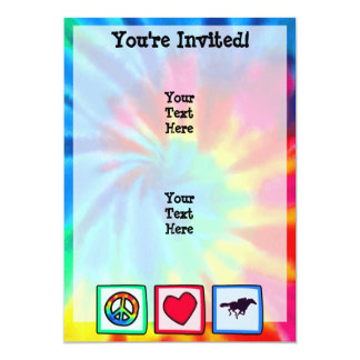 Peace, Love, Horse Racing 13 Cm X 18 Cm Invitation Card