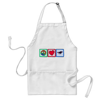 Peace, Love, Horse Racing Adult Apron