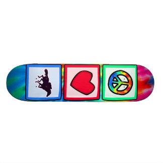 Peace Love Horse Racing Skate Boards