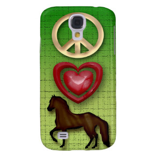 PEACE LOVE HORSE  SAMSUNG GALAXY S4 COVERS