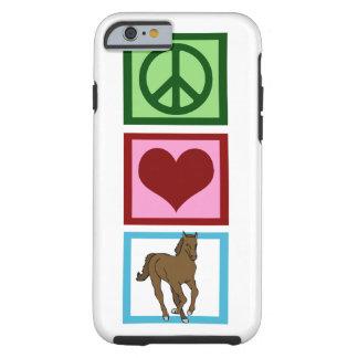Peace Love Horse Tough iPhone 6 Case