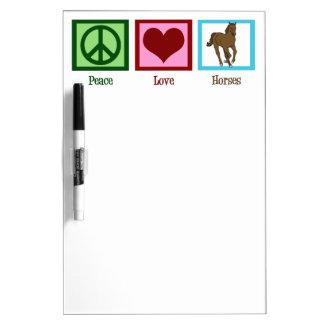 Peace Love Horses Dry Erase Board