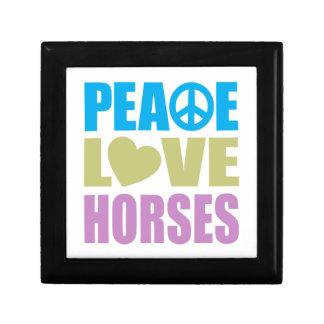 Peace Love Horses Small Square Gift Box