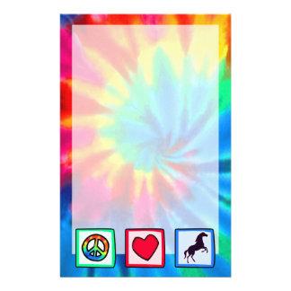 Peace, Love, Horses Stationery