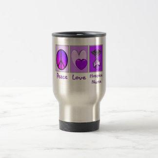 Peace Love Hospice Nurse (PURPLE) Coffee Mug