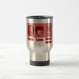 Peace Love Hospice Nursing--Gifts Travel Mug