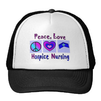 Peace, Love, Hospice Nursing Mesh Hat
