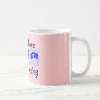 Peace, Love, Hospice Nursing Coffee Mugs