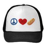 Peace Love Hotdog Cap