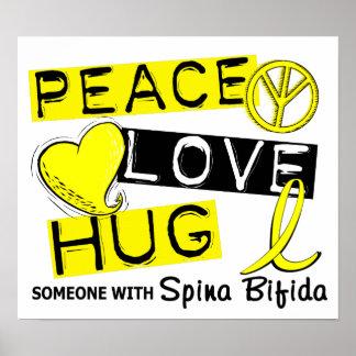 Peace Love Hug 1 Spina Bifida Print
