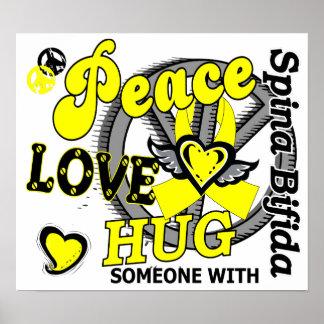 Peace Love Hug Spina Bifida Print